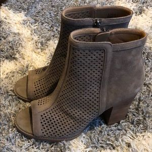 Lucky Brand Leather Upper Booties